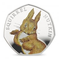 Squirrel Nutkin Royal Mint Proof Silver Coin